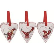 Permin Children and Gifts Tree Hearts Cross Stitch Kit
