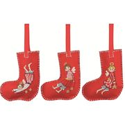 Permin Christmas Angel Tree Stockings Cross Stitch Kit