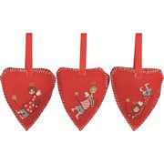 Christmas Angel Tree Hearts - Permin Cross Stitch Kit