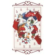 Winter Gnomes Advent - Permin Cross Stitch Kit
