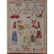 Permin Christmas Morning Advent Cross Stitch Kit