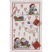 Permin Sleigh Ride Advent Christmas Cross Stitch Kit