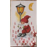 Permin Santa and Lantern Advent Christmas Cross Stitch Kit
