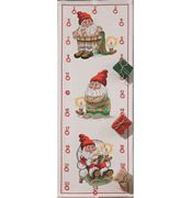 Santa Getting Ready Advent - Permin Cross Stitch Kit