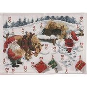 Permin Feeding the Horses Advent Christmas Cross Stitch Kit