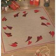 Hearts Tree/Gift Mat - Permin Cross Stitch Kit