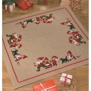 Santa Family Tree/Gift Mat - Permin Cross Stitch Kit