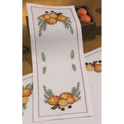 Orange and Cloves Runner White - Permin Cross Stitch Kit
