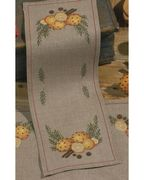 Orange and Cloves Runner Linen - Permin Cross Stitch Kit