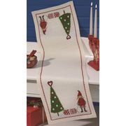 Girl and Christmas Tree Runner - Permin Cross Stitch Kit