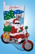 Design Works Crafts Route 66 Stocking Craft Kit