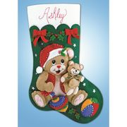 Design Works Crafts Teddy Stocking Christmas Craft Kit