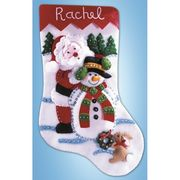 Design Works Crafts Santa and Snowman Stocking Craft Kit