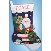 Design Works Crafts Father Christmas Stocking Craft Kit