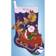 Design Works Crafts Christmas Eve Stocking Craft Kit