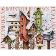 Dimensions Winter Housing Cross Stitch Kit
