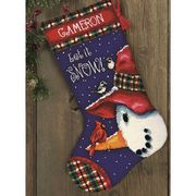 Snowman Perch Stocking - Dimensions Tapestry Kit