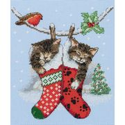 Christmas Kittens - Anchor Cross Stitch Kit