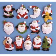 Design Works Crafts Santa Ornaments Craft Kit