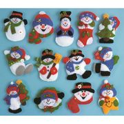 Design Works Crafts Snowman Ornaments Christmas Craft Kit