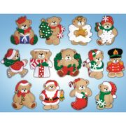 Design Works Crafts Teddy Ornaments Christmas Craft Kit