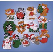 Design Works Crafts Christmas Kitten Ornaments Craft Kit
