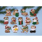 Design Works Crafts Christmas Puppy Ornaments Craft Kit