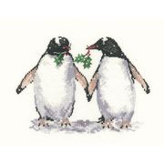 Christmas Penguins - Evenweave - Heritage Cross Stitch Kit