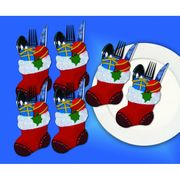Design Works Crafts Stocking Silverwear Holders Christmas Craft Kit