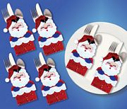 Design Works Crafts Santa Chimney Silverwear Holders Christmas Craft Kit