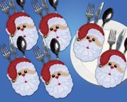 Design Works Crafts Father Christmas Silverwear Holders Craft Kit