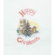 Derwentwater Designs Midnight Mass Christmas Card Making Cross Stitch Kit