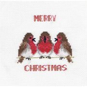 Derwentwater Designs Robin Trio Cross Stitch Kit