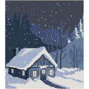 Luca-S House in Snowbank Christmas Cross Stitch Kit