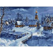 Luca-S Winter Landscape Christmas Cross Stitch Kit
