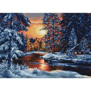 Luca-S Winter Evening Christmas Cross Stitch Kit
