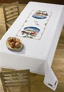 Permin Santa Cart Scene Tablecloth Christmas Cross Stitch Kit