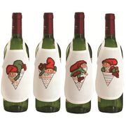 Santa's Elves Wine Aprons - Permin Cross Stitch Kit