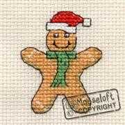 Gingerbread Man - Mouseloft Cross Stitch Card Design