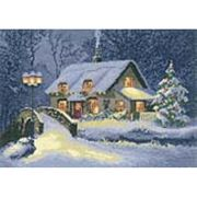 Christmas Cottage - Evenweave - Heritage Cross Stitch Kit
