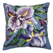 Collection D'Art Purple Iris Cross Stitch Kit