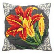 Collection D'Art Orange Lily Cross Stitch Kit