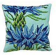 Collection D'Art Blue Flower Cross Stitch Kit