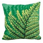 Collection D'Art Green Ferns Cross Stitch Kit