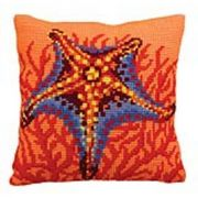 Orange Starfish - Collection D'Art Cross Stitch Kit