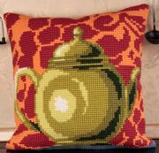 Collection D'Art Bronze Teapot Cross Stitch Kit