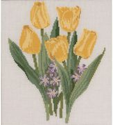 Yellow Tulips - Permin Cross Stitch Kit