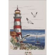 Permin Lighthouse and Gulls Cross Stitch Kit