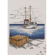 Permin Sailing Ship Cross Stitch Kit