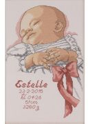 Baby Girl Sampler - Permin Cross Stitch Kit
